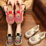 Babakud Summer Retro Straw Linen Embroidery Shoes 2019 Jun New