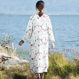 BABAKUD Surplice Chic Embroidery Casual Loose Spring Autumn Dress 2019 August New