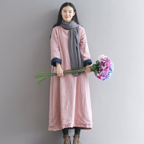 BABAKUD Vintage Cotton Jacquard Thickening Quilted Cotton Robes 2019 October New One Size Pink