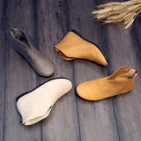 BABAKUD Vintage Cotton Linen Handmade Leather Women's Boots 2019 August New
