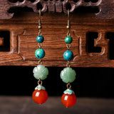 BABAKUD Vintage Ethnic Ancient Style Women's Earrings ACCESSORIES As the picture