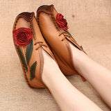 BABAKUD Vintage Handmade Ethnic Flat Velvet Spring Autumn Women's Shoes 2019 October New 35 Yellow