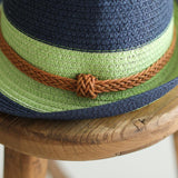 Babakud Vintage Woven Summer Cuffed Straw Hat ACCESSORIES