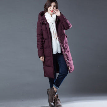 Babakud Wine Red Thick Down Hooded Winter Coat 2019 October New M Wine Red