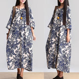Babakud Women Cotton Linen Loose Casual Fitting Maxi Dress 2019 May New