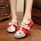 Babakud Women New Embroidery Cloth Shoes 34-41 2019 Jun New 34 Red A