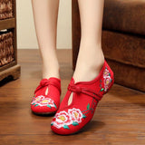 Babakud Women New Embroidery Cloth Shoes 34-41 2019 Jun New 34 Red B