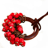Babakud Wooden Circle Retro Beads Necklace For Women ACCESSORIES