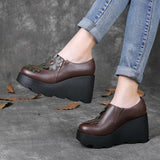 Casual Leather Comfortable Platform Shoes Shoes