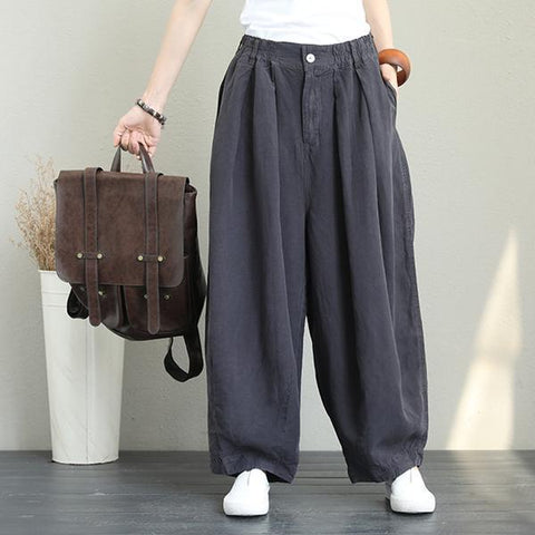 Casual Wide Leg Linen Pants Women Loose Trousers pants