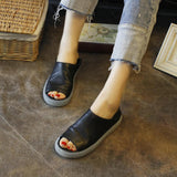 Comfortable Two-Method-To-Wear Platform Leather Loafers 2019 April New