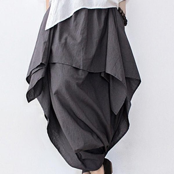 Cotton And Linen Crotch Skirt April 2020-New Arrival