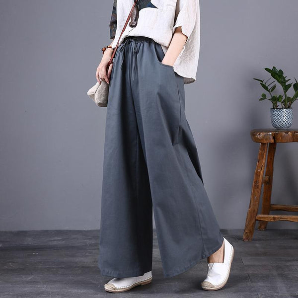 Cotton And Linen Plus Size Loose Wide-leg Pants September September 2020 new arrival