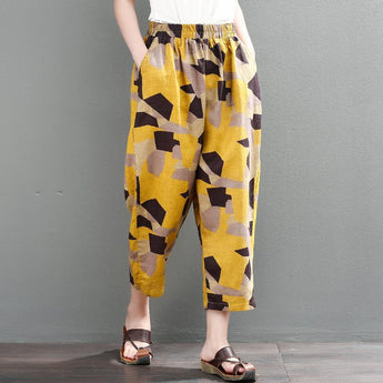 Cotton Linen Women Loose Leisure Pants 2019 May New