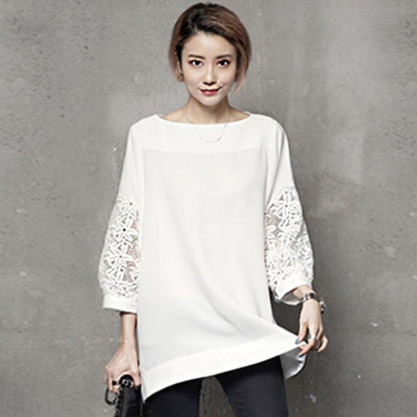 Design Sense of Collar Top Autumn September 2020 new arrival WHITE