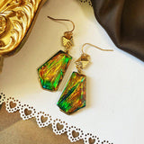 Emerald Vintage Green French Earrings ACCESSORIES D