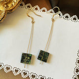 Emerald Vintage Green French Earrings ACCESSORIES E