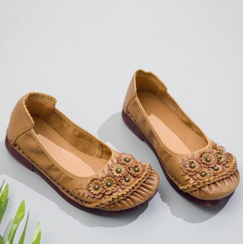Ethnic Casual Soft Bottom Retro Shoes 35-41 2019 November New 35 Yellow