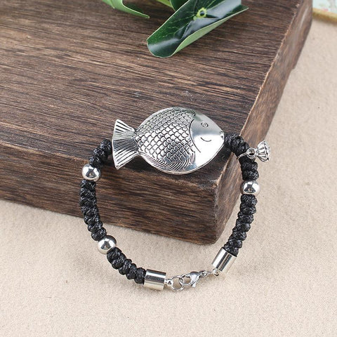 Ethnic Rope Antique Silver Fish Bracelet Bracelet ACCESSORIES 1