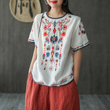 Ethnic Style Embroidery T-Shirt May 2020-New Arrival