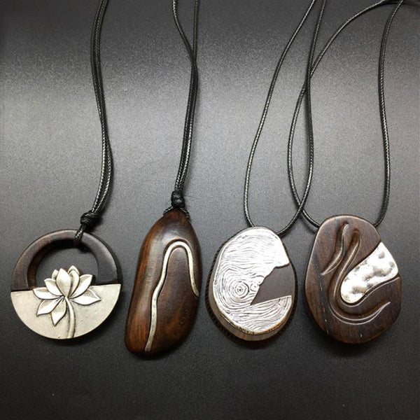 Ethnic Style Retro Wood Ebony Necklace ACCESSORIES