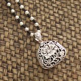 Ethnic style With Imitation Silver Pendant For Necklaces ACCESSORIES Purse