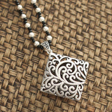 Ethnic style With Imitation Silver Pendant For Necklaces ACCESSORIES Square Totem