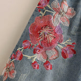 Flowers Embroidered Wide Leg Jeans 2019 New December