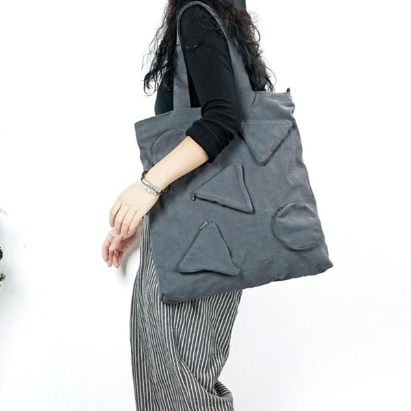 Geometric Pattern Casual Shoulder Bag ACCESSORIES Gray