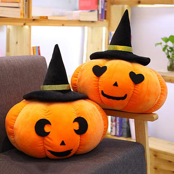 Halloween Cute Pumpkin Pillow Cushion 20cm Pumpkim with moon eyes