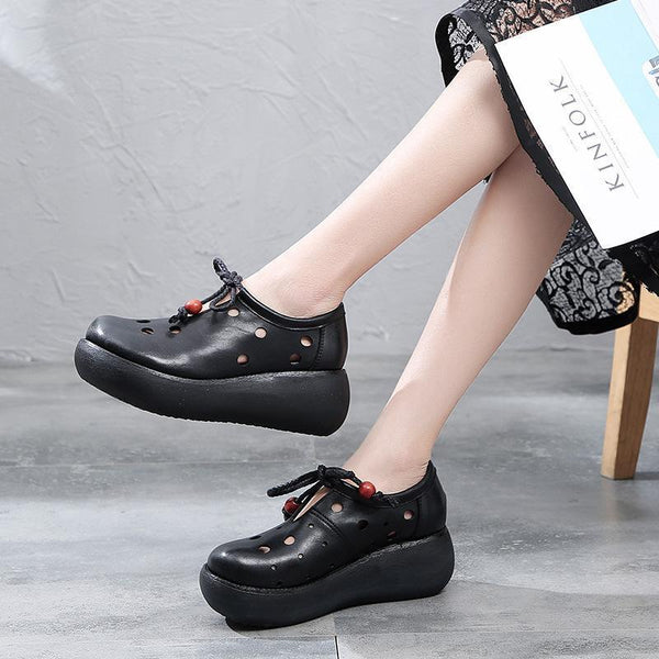 Hollow Out Solid Color Lace-Up Women Sandals 2019 May New