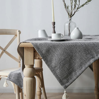 Japanese Style Living Room Accessories Cotton Linen Tablecloth ACCESSORIES
