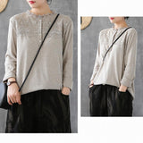 Lace Blouse Cotton Long-Sleeved T-Shirt 2019 New December