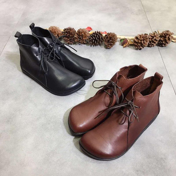 Lace-up Short-top Flat Shoes Nov 2020-New Arrival