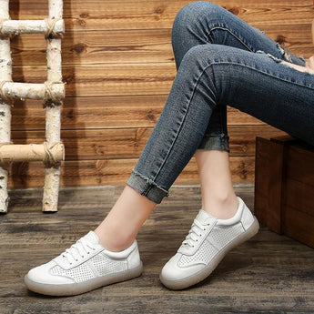 Leather Summer New Women Casual Shoes 35-41 2019 May New