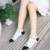 Literature Women Warm Cotton Stripe Splicing Socks Socks