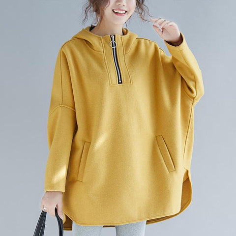 Loose Cotton Fleece Casual Hoodie Sweatshirt Sweatshirt