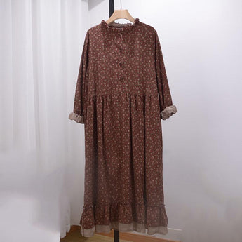 Loose Dress With Lace Collar August 2020-New Arrival Red