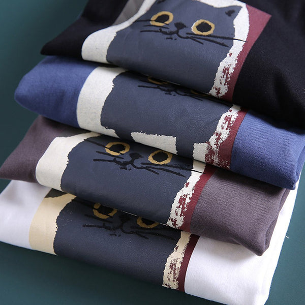 Loose Owl Letter Printed Casual T-shirt April 2020-New Arrival