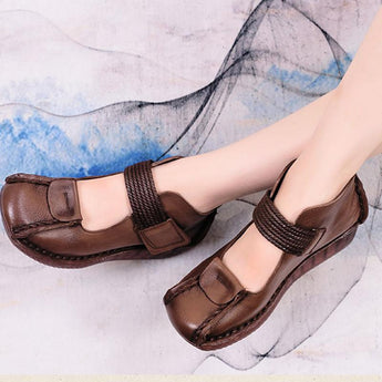 Mori Hand-Based Tendon Bottom Leather Shoes August 2020-New Arrival 35 BROWN