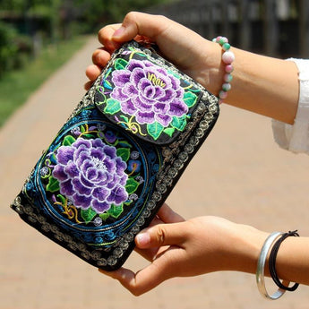 National Embroidered Ethnic Bag ACCESSORIES Purple