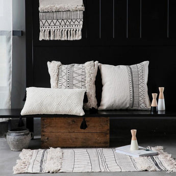 Nordic Moroccan Geometric Tassel Pillow Home Linen