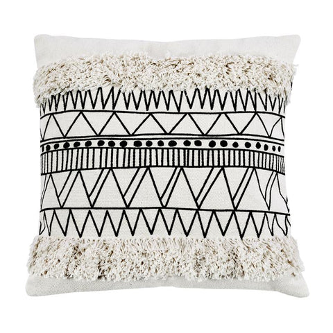 Nordic Moroccan Geometric Tassel Pillow Home Linen SqureA 45cm*45cm (Pillowcase )