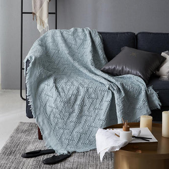 Nordic Sofa Towel Blanket | Home Decotation Home Linen 180cm*230cm Green