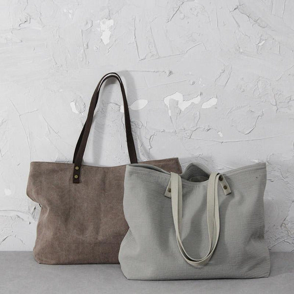 One-shoulder Large-capacity Canvas Cotton Bag ACCESSORIES
