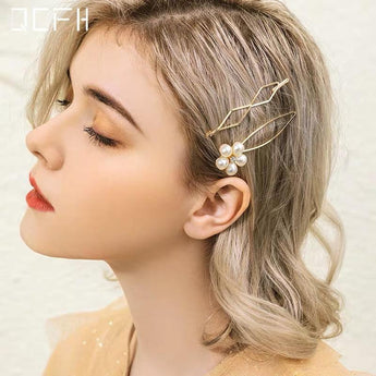 Pearl Hair Clip Set Simple Word Clip Hair oct 1 84MM