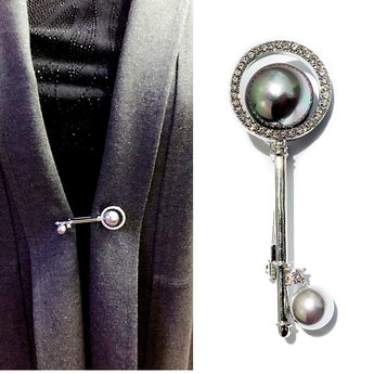 Pin Coat Button Accessories Cardigan Shawl Buckle oct sliver