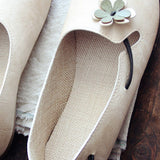 Round Toe Flowers Flats Shoes With Elastic Belts March-2020-New Arrival