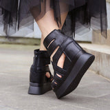 Sale Babakud Leather Platform High Heel Sandals 2019 July New