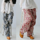 Spring Summer Loose Printing Retro Linen Pants Jan 2021-New Arrival